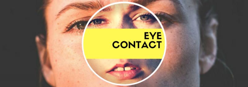 team building eye contact