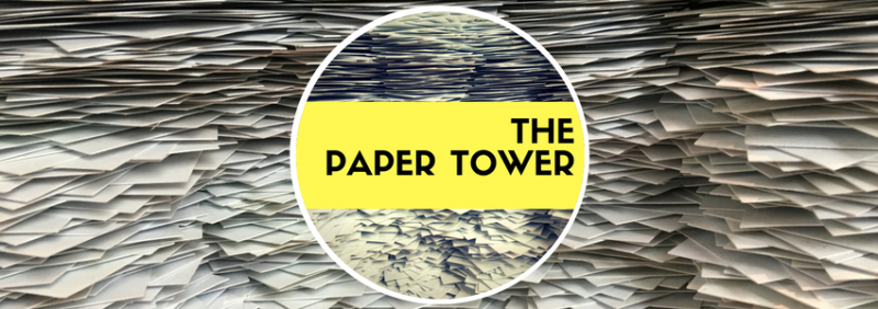 Team building paper tower